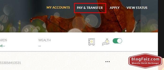 pilih pay & transfer maybank