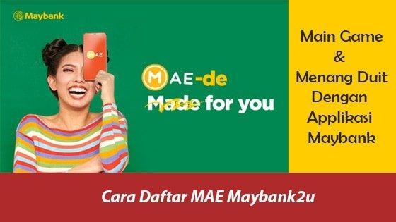 Cara Daftar MAE Maybank2u