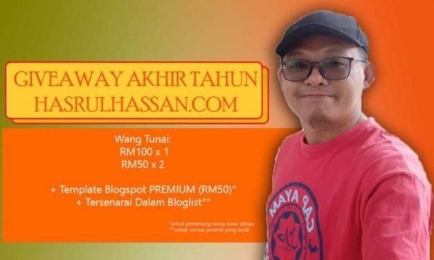 Giveaway Akhir Tahun Hasrul Hassan