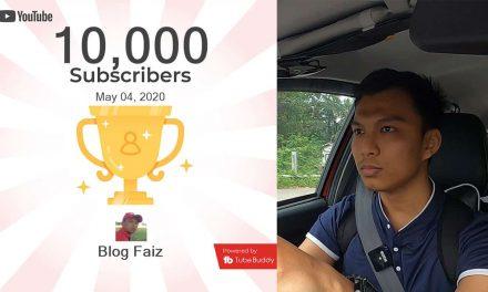 Dapat 10000 Subscriber YouTube Dalam Masa Setahun?