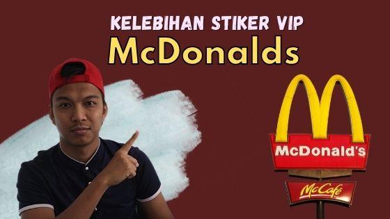 stiker vip mcdonald