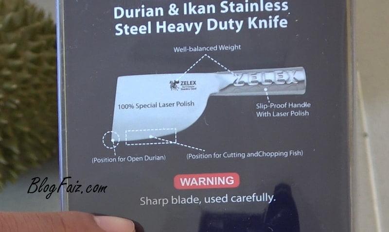 pisau belah durian